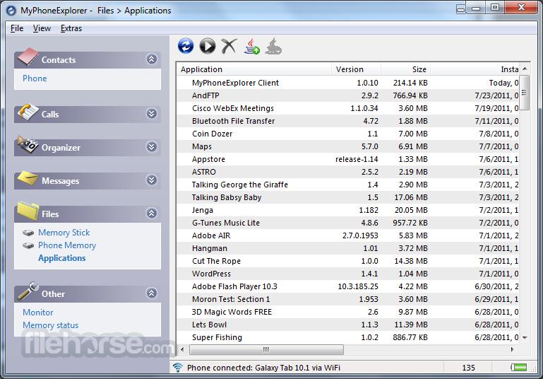 MyPhoneExplorer for desktop